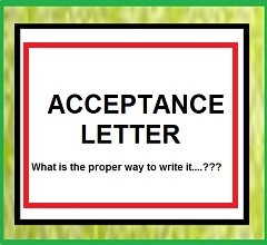 how to write acceptance letter