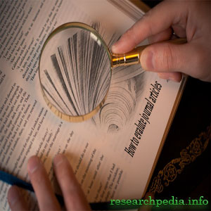 How to evaluate journal articles