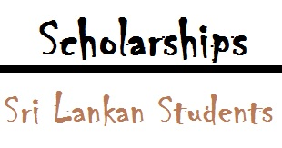 Scholarships for Sri Lankans Students 2016