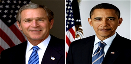 Difference between George Bush and Barack Obama