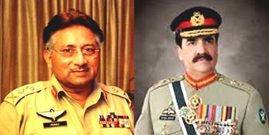 Difference between General Pervez Musharraf and General Raheel Sharif