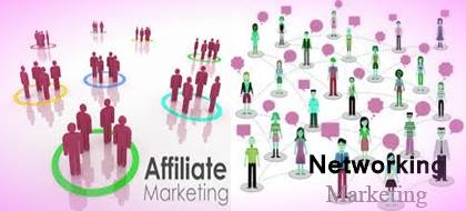 Difference between Affiliate Marketing and Network Marketing