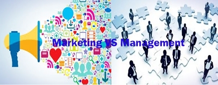 Difference between Marketing and Management