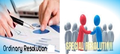 Difference between Ordinary Resolution and Special Resolution