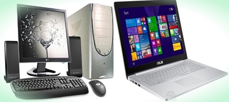 Difference between Desktop Computer and Laptop -