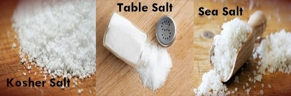 Difference Between Kosher Salt Table Salt And Sea Salt